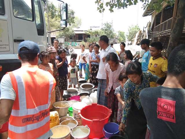 Image 1 Water Distributed from Truck