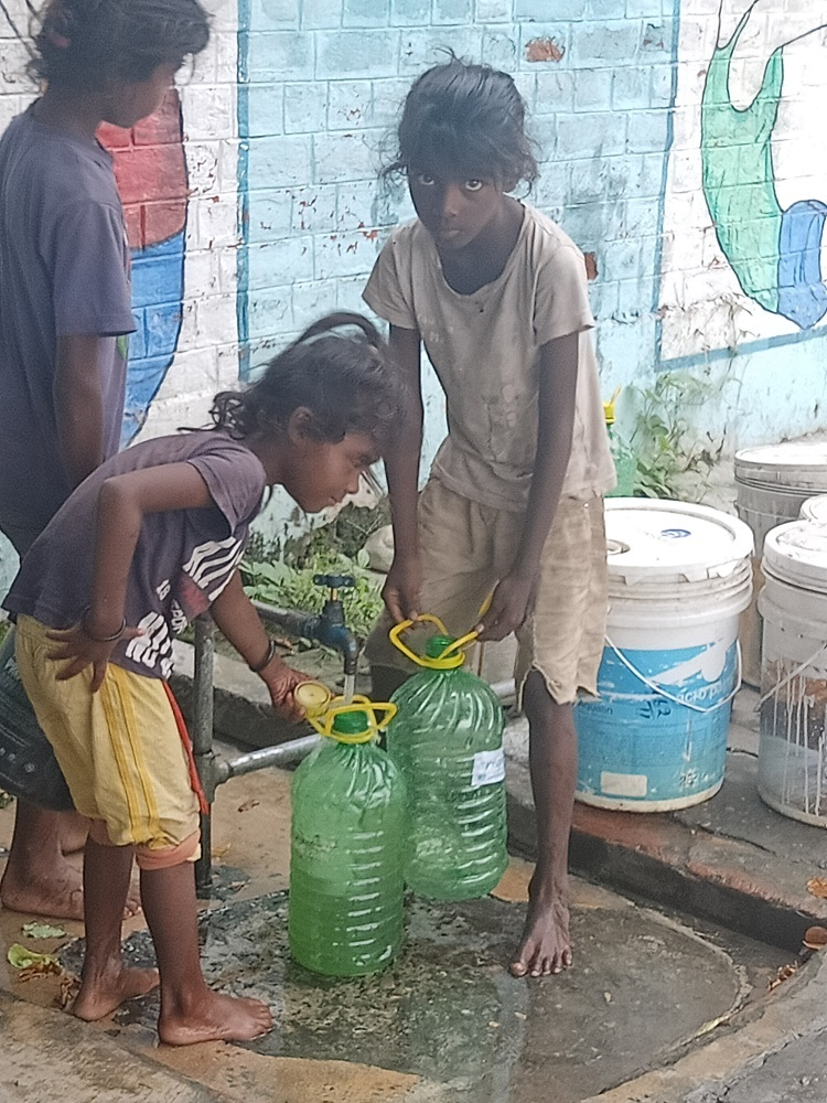 Image 1 Children Collecting Water Mullana